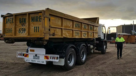 Skip Hire Truck in Melton